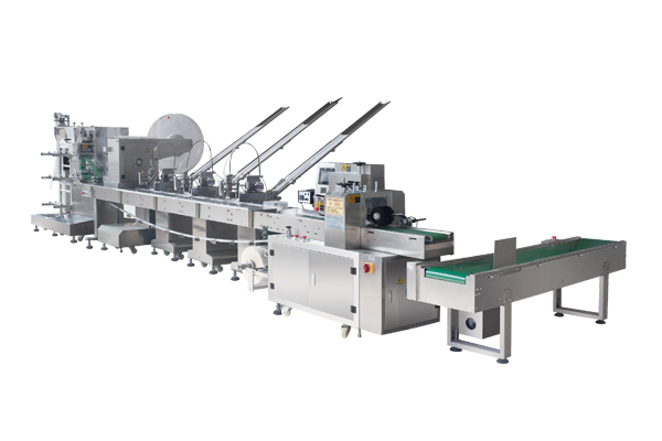 Hdzj-2500 disposable airline tableware automatic packaging machine